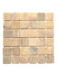 Mozaïek Parquet 5x5 Onyx Tumble Marmer 30x30 cm (Prijs per 1m²)