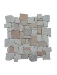 Mozaïek Random Mix Onyx/Cream/Yucatan Brown Marmer 30x30 cm (Prijs per 1m²)