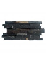 Mozaïek Stack Black Slate 20x40 cm (Prijs per 0,5m²)