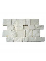 Mozaïek Random White Sandstone 25x40 cm (Prijs per 0,5m²)