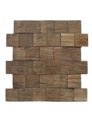 Mozaïek Hout Square Old Teak (P 03) 30x30 cm (Prijs per 1m²)