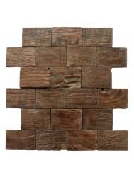 Mozaïek Hout Rectangullar Old Teak (P 04) 30x30 cm (Prijs per 1m²)
