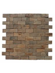 Mozaïek Hout Rectangular Old Teak (P 05) 30x30 cm (Prijs per 1m²)