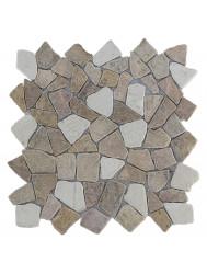 Mozaïek Y Mix Yucatan Brown/Cream Marmer 30x30 cm (Prijs per 1m²)