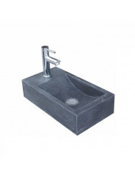 Natuursteen fontein Recto 40x22x10cm (kraangat Links)