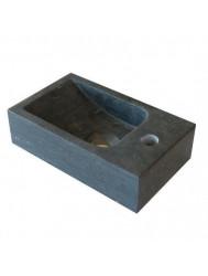 Hardstenen fontein Mini met kraangat rechts 18x30x8 cm (Fonteinen)