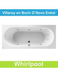 Ligbad Villeroy & Boch O.novo 190x90 cm Balboa Whirlpool systeem Enkel | Tegeldepot.nl