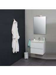 Badkamermeubelset BWS met Porseleinen Wastafel 1 Kraangat incl Spiegel Wit