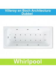 Ligbad Villeroy & Boch Architectura 140x70 cm Balboa Whirlpool systeem Dubbel | Tegeldepot.nl
