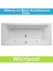 Ligbad Villeroy & Boch Architectura 180x80 cm Blaboa Whirlpool systeem Enkel