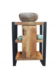 Badkamermeubel Boss & Wessing Mineola Wood Met Lombok 60x45x81 cm Waskom