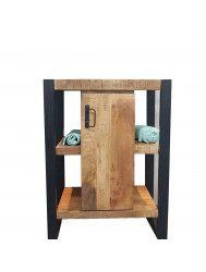 Onderkast Boss & Wessing Mineola Wood 60x45x81cm Met Mat Zwart Metaal