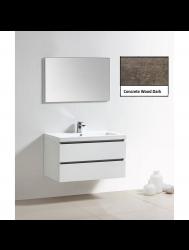 Badkamermeubelset Sanilux Trendline 100x47x50 cm 2 Kraangaten Concrete Wood Dark