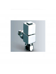 Design radiator kraan ER-Ottinetti Inclusief Aansluitset Vierkant Chroom
