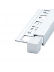 Tegelprofiel Hoekstuk QUTEX Ox Aluminium Hoogglans Geborsteld 10 mm ( 2 stuks)