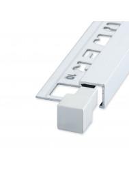 Tegelprofiel Hoekstuk QUTEX Ox Aluminium Mat Zilver 10 mm ( 2 stuks)