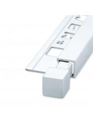 Tegelprofiel Hoekstuk QUTEX Ox Aluminium Hoogglans 10 mm ( 2 stuks)