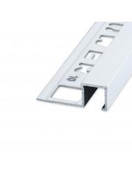Tegelprofiel QUTEX Ox Vierkant Aluminium Mat Zilver 10 x 2700mm