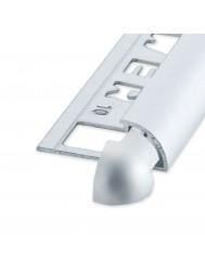 Tegelprofiel Hoekstuk Rondex Ox Aluminium Mat Zilver 8 mm ( 2 stuks)