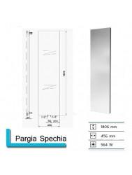 Handdoekradiator Pargia Specchia met spiegel 1806 x 456 mm