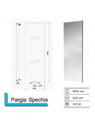 Handdoekradiator Pargia Specchia met spiegel 1806 x 608 mm