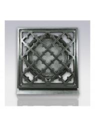 Deurrooster Weckx Retro Vierkant Aansluiting 125 cm Brons