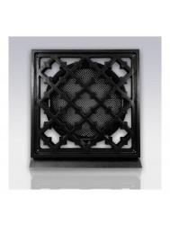 Deurrooster Weckx Retro Vierkant Aansluiting 125 cm Zwart