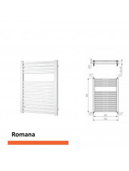 Designradiator Boss & Wessing Romana 805 x 600 mm    Tegeldepot.nl
