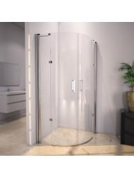 Douchecabine Sanilux Rinna kwartrond met 2 deuren 100x100cm 6mm