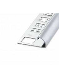 Ox Tegelprofiel Rondex Rond Open Glanzend Zilver 12.5 mm