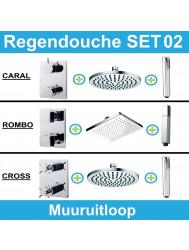 Wiesbaden inbouw regendouche set 02 (muuruitloop)