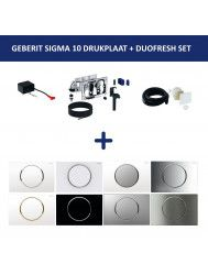 Bedieningsplaat Geberit Sigma 10 + DuoFresh Geurzuiveringssysteem Wit Met Goud