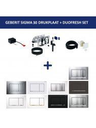 Bedieningsplaat Geberit Sigma 30 DF + DuoFresh Geurzuiveringssysteem Wit Met Chroom