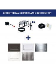 Bedieningsplaat Geberit Sigma 30 + DuoFresh Geurzuiveringssysteem Mat Wit