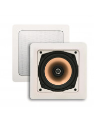 Speakerset Aquasound Samba (draaibare Tweeter) Wit Vierkant 177x177 mm