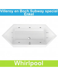 Ligbad Villeroy & Boch Subway 190x80 cm Balboa Whirlpool systeem Enkel