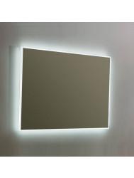 Spiegel Sanilux Mirror Infinity 80x70x4,1 cm Aluminium met LED Verlichting en Spiegelverwarming