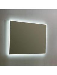 Spiegel Sanilux Mirror Infinity 90x70x4,5 cm Aluminium met LED Verlichting en Spiegelverwarming