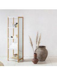 Spiegelkast BWS Bamboe Life 35x45x160 cm Wit