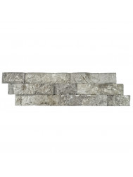 Steenstrips 01 Light Gray Marmer 15x50 cm (Prijs per 0,5m²)