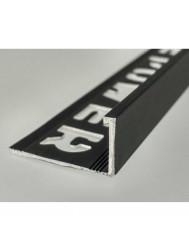 Tegelprofiel LYNOX 6x2700 mm Rechthoekig Gecoat Mat Zwart