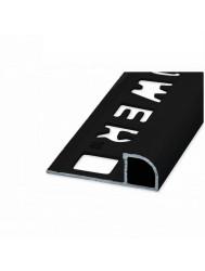 Tegelprofiel NOZOX mm Kwartrond Mat Zwart (8 t/m 12,5 mm x 2500 mm)