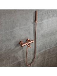 Thermostatische Badkraan BWS Koper met Handdouche Geborsteld Koper