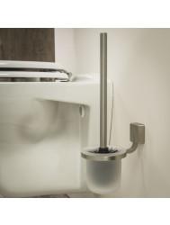 Toiletborstelhouder Tiger Impuls Muur Glas/ RVS geborsteld 38cm