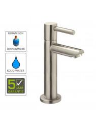 BWS Danu XL 15cm Toiletkraan 1/2'' RVS Look Met Keramisch Binnenwerk 1