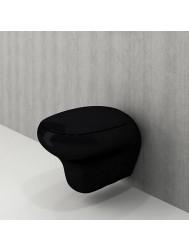 Toiletpot Bocchi Fenice met Softclose Zitting Mat Zwart