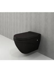 Toiletpot Bocchi Taormina Arch met Softclose Zitting Mat Zwart