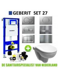 Geberit UP320 Toiletset set27 Geberit Sphinx 280 Rimfree met Sigma drukplaat