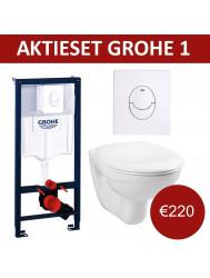 Aktie Toiletset Grohe Rapid SL met Basic Smart pot en Skate Air drukplaat