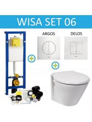 Wisa XS Toiletset set06 Laufen Royal Design Diepspoel met Argos of Delos drukplaat
